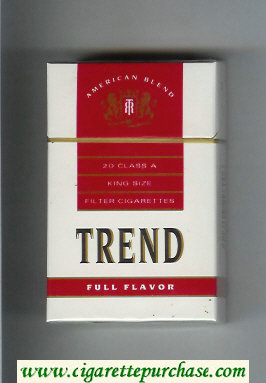 Trend Full Flavor American Blend cigarettes hard box
