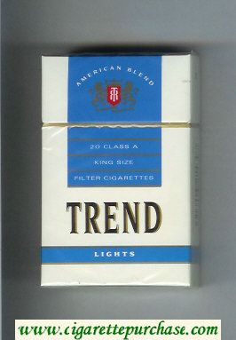Trend Lights American Blend cigarettes hard box