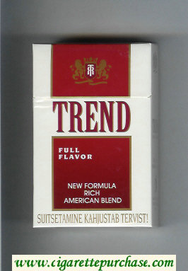 Trend Full Flavor New Formula Rich American Blend cigarettes hard box