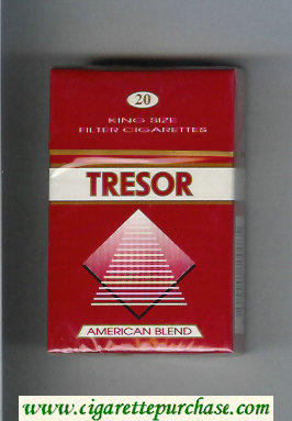 Tresor American Blend cigarettes red and white hard box