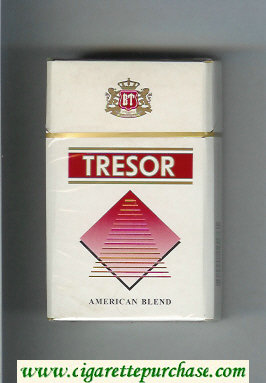 Tresor American Blend cigarettes white and red hard box