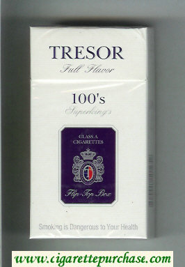Tresor Full Flavor 100s Superkings cigarettes hard box
