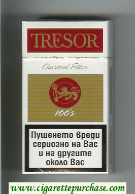 Tresor Charcoal Filter 100s cigarettes hard box
