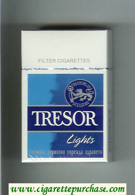 Tresor Lights cigarettes hard box