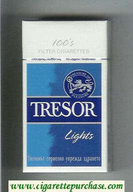 Tresor Lights 100s Filter cigarettes hard box