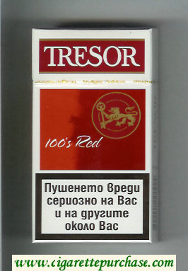 Tresor 100s Red cigarettes hard box