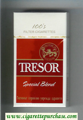 Tresor Special Blend 100s Filter cigarettes hard box