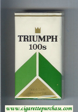 Triumph 100s Good Taste cigarettes Menthol soft box