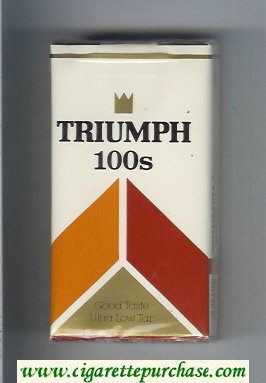 Triumph 100s Good Taste cigarettes soft box