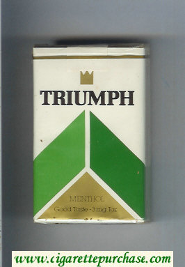 Triumph Menthol Good Taste cigarettes soft box