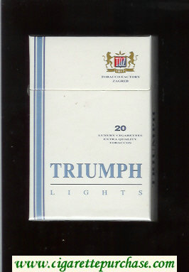 Triumph Lights cigarettes hard box