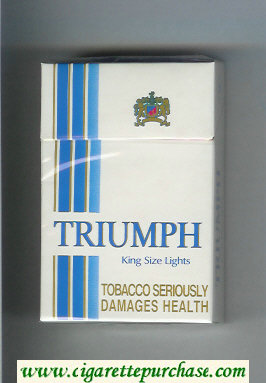 Triumph King Size Lights cigarettes hard box