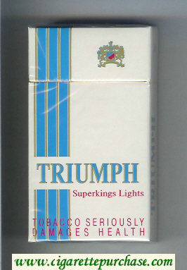 Triumph Superkings Lights 100s cigarettes hard box