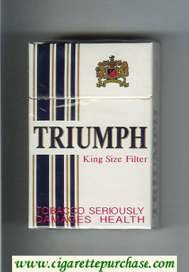 Triumph King Size Filter cigarettes hard box