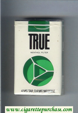 Discount True Menthol Filter cigarettes soft box