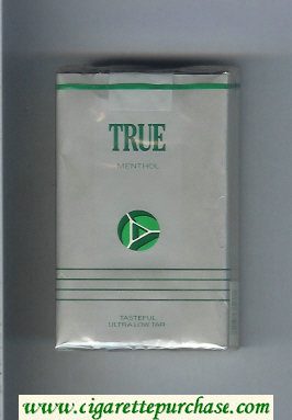 Discount True Menthol cigarettes soft box
