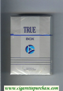 Discount True Box cigarettes hard box