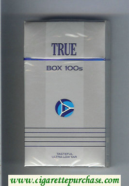 Discount True Box 100s cigarettes hard box