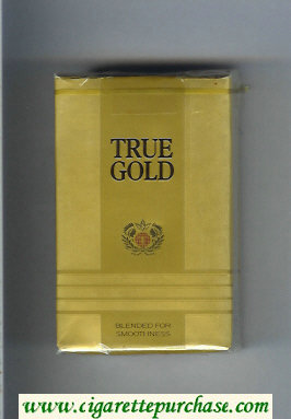 Discount True Gold cigarettes soft box