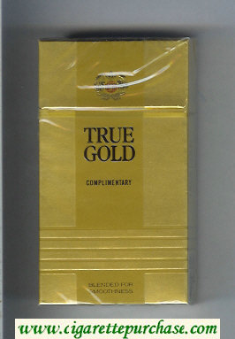 Discount True Gold 100s cigarettes hard box