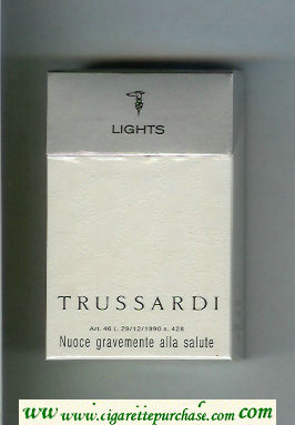 Trussardi Lights cigarettes white and silver hard box