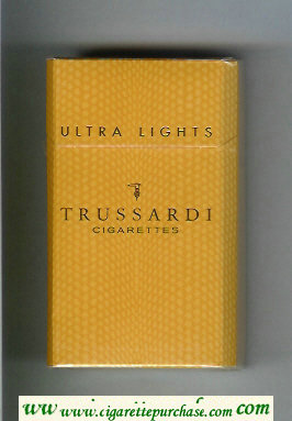 Trussardi Ultra Lights 100s cigarettes brown hard box