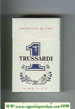 Trussardi 1 American Blend King Size cigarettes white hard box