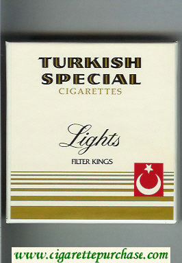 Turkish Special Lights cigarettes wide flat hard box