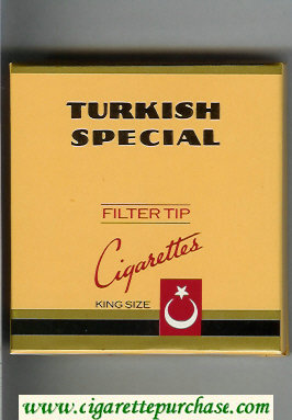 Turkish Special cigarettes wide flat hard box