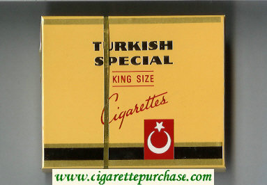 Turkish Special King Size cigarettes wide flat hard box