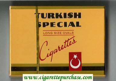 Turkish Special Long Size Ovals 30 cigarettes wide flat hard box