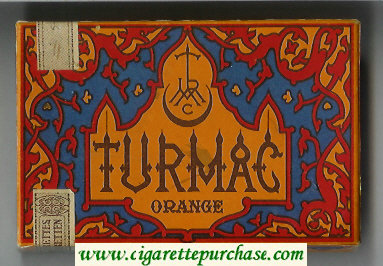 Discount Turmac Orange 25 cigarettes wide flat hard box