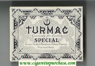 Discount Turmac Special cigarettes wide flat hard box