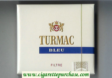 Discount Turmac Bleu Filtre cigarettes wide flat hard box