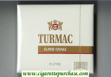 Discount Turmac Super Ovale Filtre cigarettes wide flat hard box