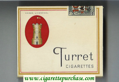 Discount Turret 22 cigarettes wide flat hard box