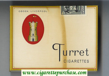 Discount Turret 25 cigarettes wide flat hard box