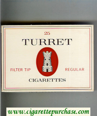 Discount Turret Filter Tip Regular 25 cigarettes wide flat hard box