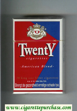 Discount Twenty American Blend cigarettes hard box