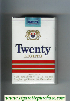 Discount Twenty Lights cigarettes soft box