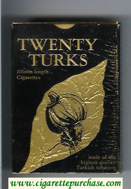 Twenty Turks 100s cigarettes wide flat hard box