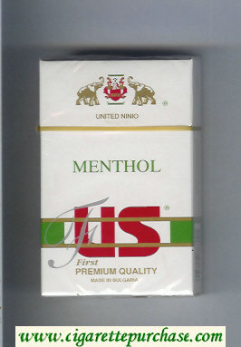US Menthol First Premium Quality cigarettes hard box
