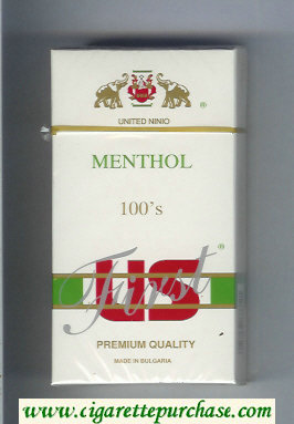 US First Menthol 100s Premium Quality cigarettes hard box