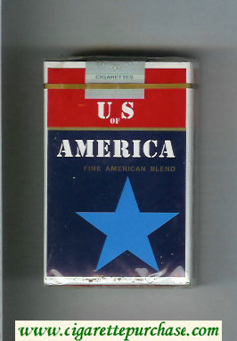 Discount US of America Fine American Blend cigarettes blue star soft box