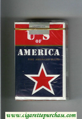 Discount US of America Fine American Blend cigarettes red star soft box