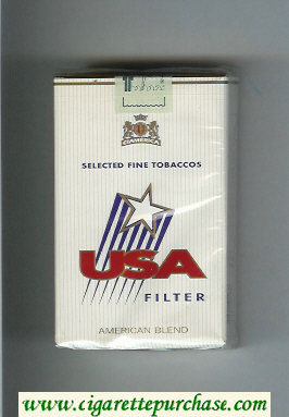 USA Filter American Blend cigarettes soft box