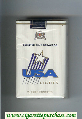 USA Lights cigarettes soft box