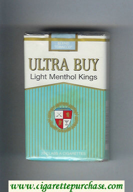Ultra Buy Light Menthol Kings cigarettes soft box