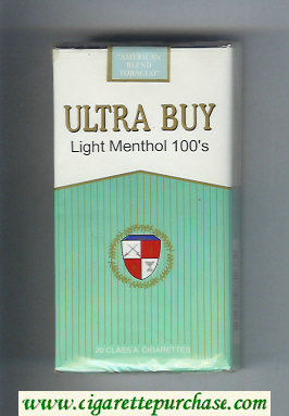Ultra Buy Light Menthol 100s cigarettes soft box