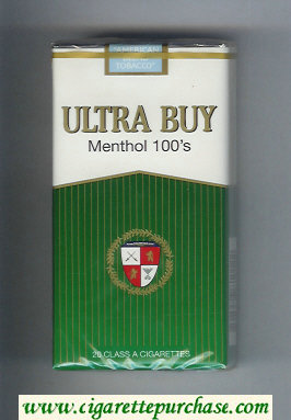 Ultra Buy Menthol 100s cigarettes soft box